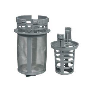 Feinsieb Ablauffilter zweiteilig grau Geschirrspüler Beko 1740800500