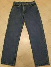 LEVI'S Mens 550 Relaxed Fit wide leg blue jeans 34x34 denim zipper fly lee faded
