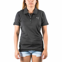 Women's PUMA Golf Mesh Back Polo Black w/Moisture Management size XS (T14) $70