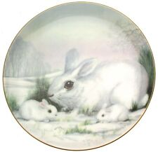 Tranquility from the Wildlife in Winter series Kevin Platt Rabbit Plate