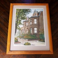 Ralph Rapien Old Town Art Watercolor - Signed 1974 - Framed