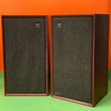 More details for vintage dynatron wooden ls 1434 speakers - made in england - tested, working!