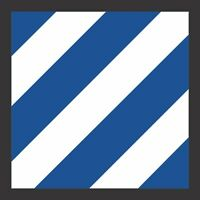 """3rd Infantry Division Patch 5.5"""" Sticker / Decal"""
