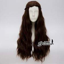 70CM Anime Game of Thrones Chelsea Lannister Queen Long Brown Party Cosplay Wig