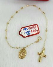 Gold Authentic 18k gold rosary bracelet,,