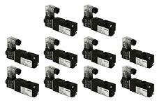 "10x 12V DC Solenoid Air Pneumatic Control Valve 3 Port 3 Way 2 Position 1/8"" NPT"