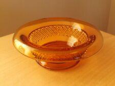 Vintage Amber Pressed Glass Sugar Basin / Pin Dish.