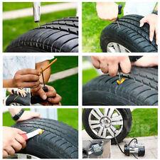 Tubeless Tyre Puncture Repair Tool Plug Kit Motorcycle Car Van Bike Emergency