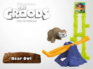 2013 McDonalds Happy Meal Toys Croods Bear Owl Toy #3 in Series