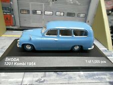 SKODA 1201 Kombi 1954 blau blue Sonderpreis IXO White Box 1:43