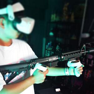 VR Game Headset Controller Double Handle Shoot Gun Bracket for Oculus quest 2