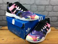 ADIDAS OG LADIES UK 6 EU 39 1/3 ZX FLUX SMOOTH MULTICOLOURED TRAINERS RRP £85 M
