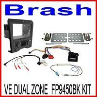 VE Commodore FP9450BK DUAL ZONE Fascia Kit Pontiac In-Dash Mounting Black