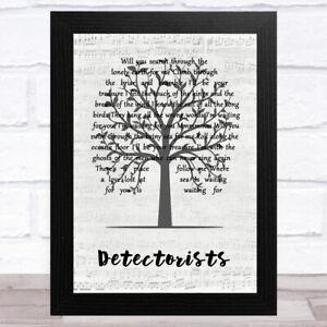 Detectorists Music Script Tree Song Lyric Music Art Print