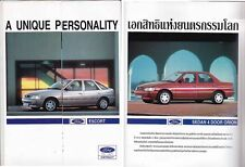 1994 FORD ESCORT & ORION Thai market 4 page Brochure folder in Thai