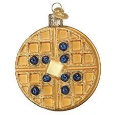 Old World Christmas Waffle (32444)N Glass Ornament w/ Owc Box