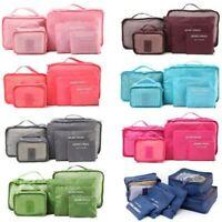 6PCS Travel Storage Bag Set Waterproof Clothes Packing Cube Luggage Organizer CD
