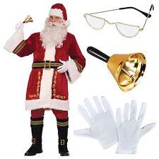 Lujo Tradicional Hombre Papá Noel Papá Noel Traje Disfraz