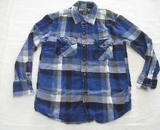 Boys Collared Shirt Long Sleeve Size M Plaid