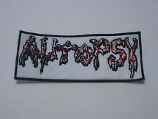 AUTOPSY DEATH METAL EMBROIDERED PATCH