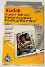 """Kodak Premium Photo Paper 4"""" x 6"""" Gloss Finish 100 Sheets New"""