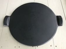 Emile Henry France 14 1/2 Inch 36.5 Cm Round Black Pizza Stone # 75.14