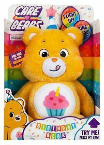 Care Bears Walmart Exclusive BIRTHDAY BEAR Plush CUPCAKE Light Up Sings WALMART