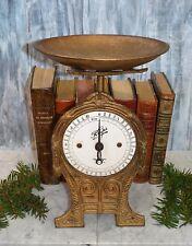 Antique Krups Cast Iron German Kitchen Scale & Pan Gilded Art Deco 10 K