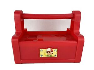 Disney Handy Manny Toy Figure Fix it Right Get to Work RED Singing Tool Box