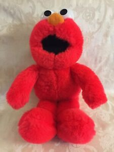 Elmo Talking Alphabet Seasame Street TYCO Plush Stuffed Animal Sings ABCs 1995