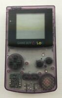Nintendo Game Boy Color CGB-001 - Atomic Purple MINT - 100% OEM - Tested Working