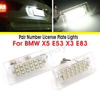 2x 18 LED Number License Plate Light Bulb White Lamp For BMW X5 E53 X3 E83 03-10