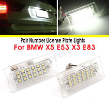 2x 18 LED Number License Plate Light Bulb White Lamp For BMW X5 E53 X3 E83 03-10