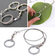 2x Edelstahl Finger Drahtsäge Zugsäge Sägedraht Steel Saw mit Ringen