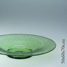 Glas Schale Regenhütte Silbereinlage  Ø =30 cm Art 50s Design #299