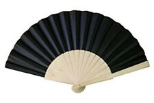 Black Wooden Thick Paper Bamboo ideal Hand Fan