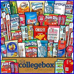 Collegebox Care Package 45 Ct Snacks Food Cookies Granola Bar Chips Candy Ultima