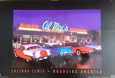 3 x 2 Ft Route 66 High Gloss Poster from Lucinda Lewis Diner Red Corvette