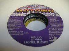 Soul  45 LIONEL RICHIE Hello on Motown