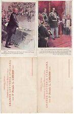 #LOTTERIA ITALIANA 1911- 2 CART. DI VICENDE STORICHE DEL 1861- dis. CARPANETTO E