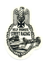 ed roth sticker help promote street racing hot rod drag race motorcycle biker