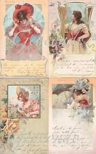 RARE 1900's complete art nouveau litho set artist signed 12 months of the year