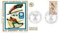 Enveloppe Premier Jour 27/1/1968 Jeux Olympiques Grenoble saut & ski de fond