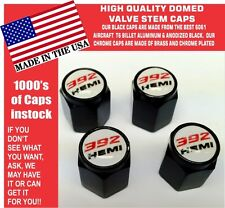 Billet Aluminum Dodge Challenger SRT Hellcat 392 Hemi White Valve Stem Air Caps