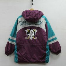 Vintage Anaheim Mighty Ducks Insulated Logo 7 Jacket Youth Size Large 90s NHL