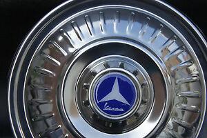 "VESPA VLB VBB GL PX VBC GS 8"" 10"" Stainless Steel Spare Wheel Cover Trim Blue"