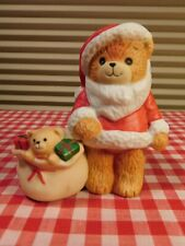 Lucy and Me Santa Bear Candle Holder Enesco 1981