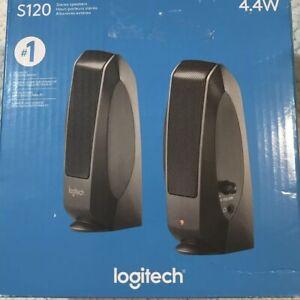 Logitech S120 Desktop Speaker System - Black