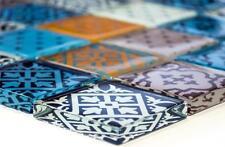 MULTICOLORED MIX Design Translucent Mosaic tile GLASS WALL Splashback-78B-0123_b