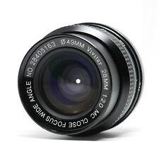 :Vivitar MC 28mm f2 Close Focus Manual Focus C/Y Contax Yashica Mount (Read)